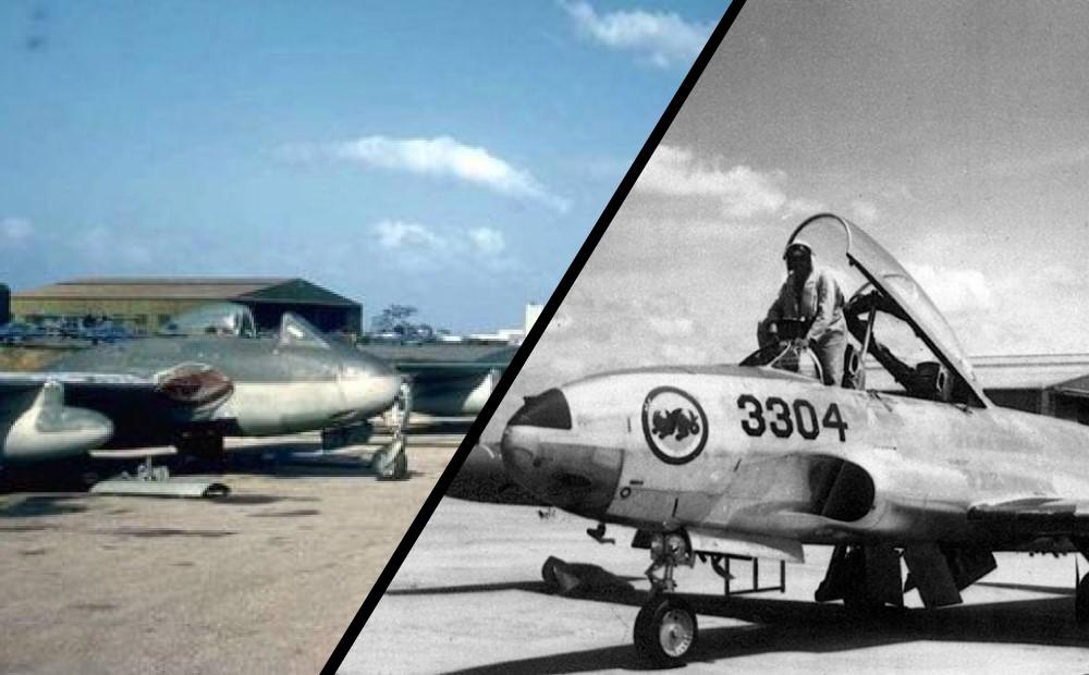 La curiosa carrera aérea entre un Vampire y un T-33 en República Dominicana