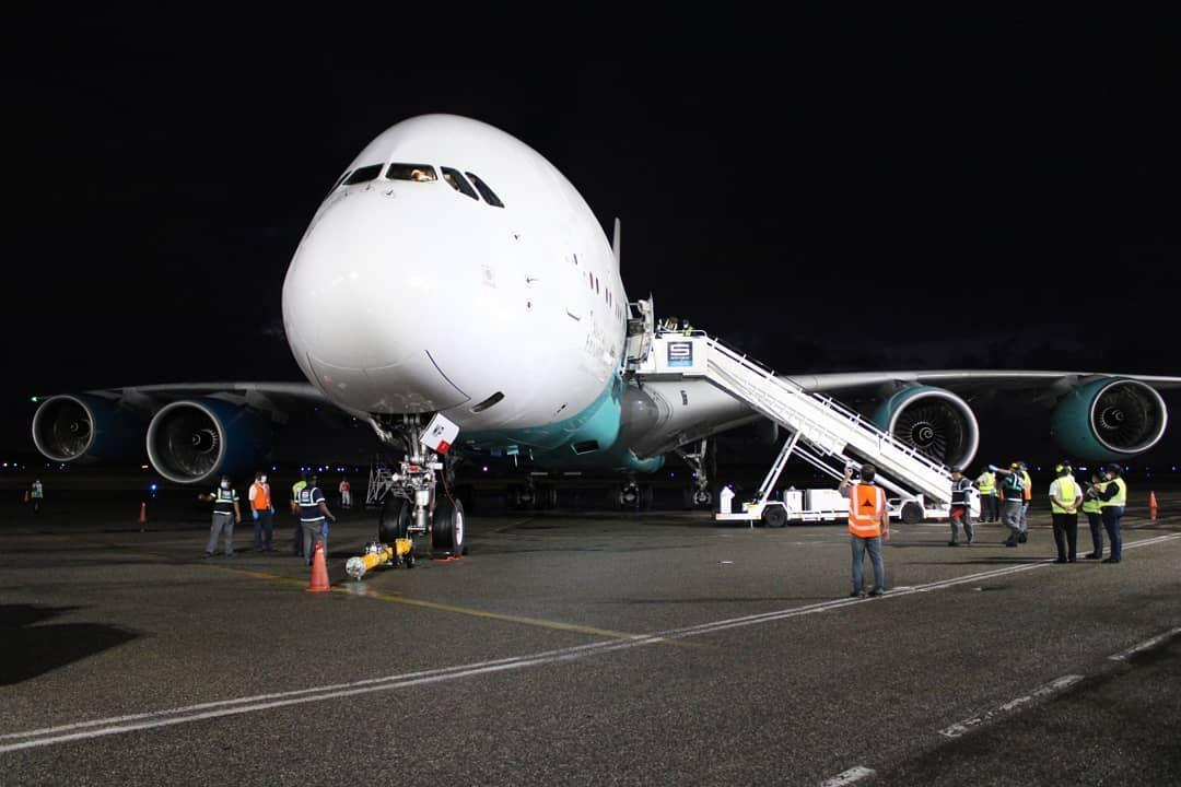 ¡Por fin! Llega el Airbus A380 a República Dominicana