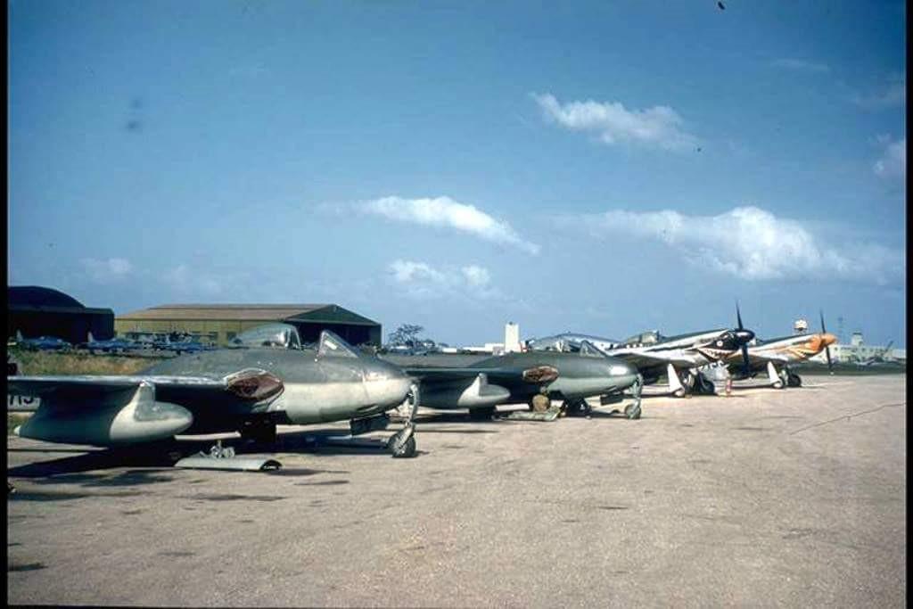 ¿Sabías que RD tuvo un equipo de acrobacia aérea con aviones Vampire?