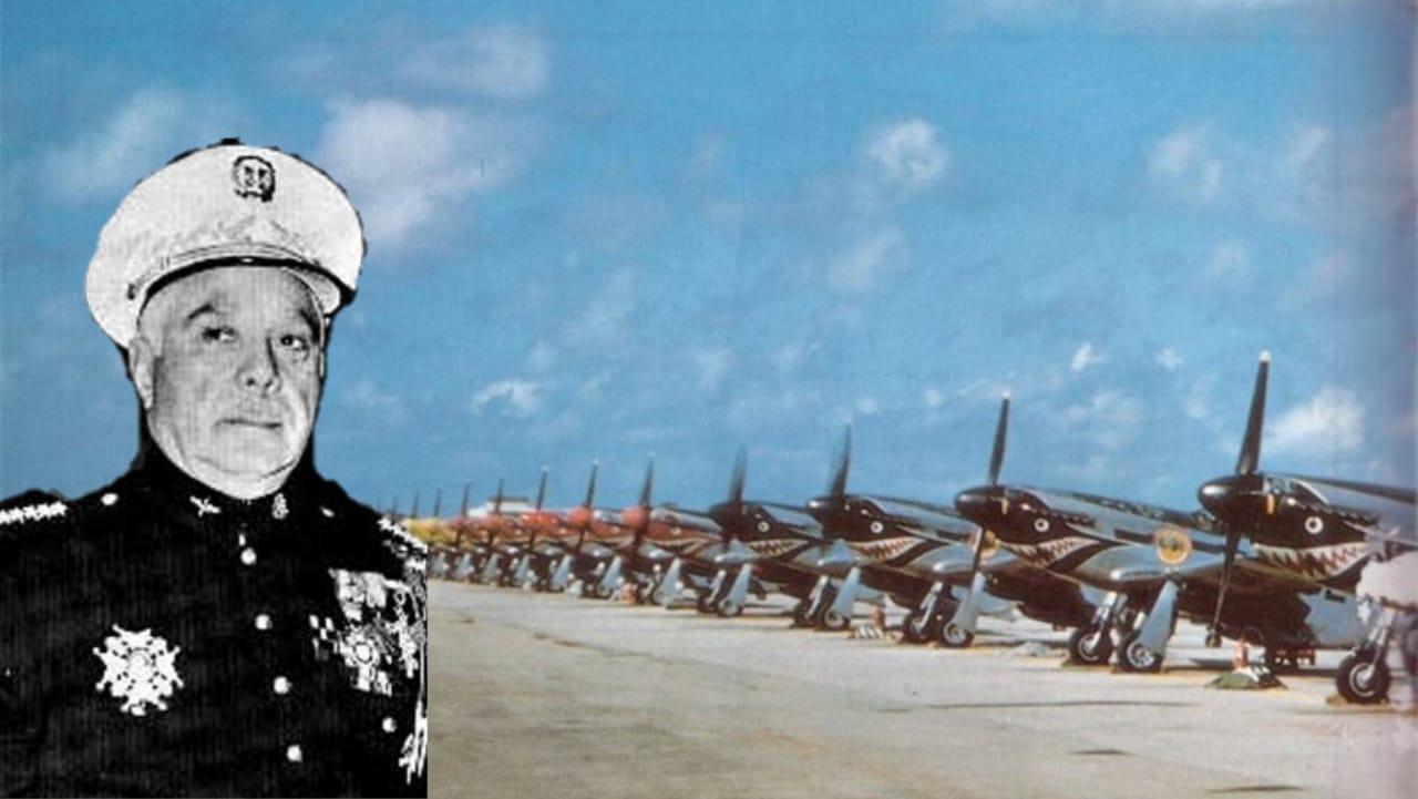 El día que un avión P-51 explotó frente a Trujillo